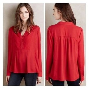 Anthropilogie • Maeve Red Popover Top Blouse